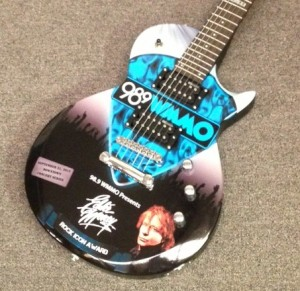 Custom Eddy Money wrapped guitar by Brand O' Guitar Company