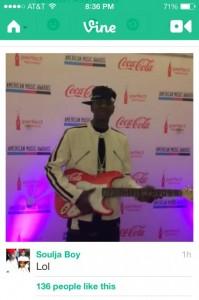 Soulja Boy ROCKIN' w/ a custom Coca Cola by Brand O' Guitar Company