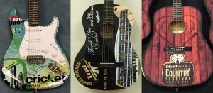 Custom wrapped promotional guitars